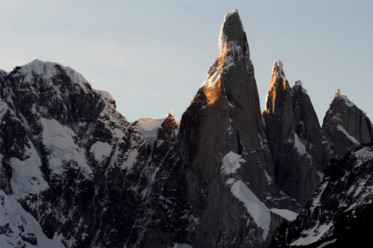 Cerro Torre group at sunset