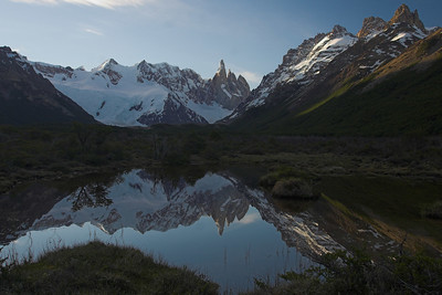 The valley leading to the base of Cerro Torre