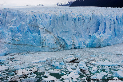 Face of the Perito Moreno Glacier, Los Glaciares National Park, Argentina