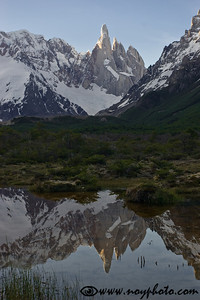 Cerro Torre on a rare clear day