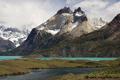Cuernos del Paine seen from Mirador Nordenskjold, Torres del Paine National Park, Chile.