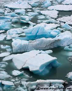 Ice in Lago Argentino, Los Glaciares National Park, Argentina
