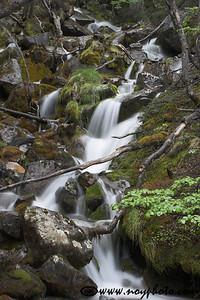A waterfall near Mirador Maestri, Los Glaciares National Park, Argentina