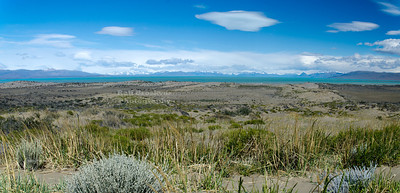 View from route # 40 at the east shore of Lago Argentino, Patagonia, Argentina