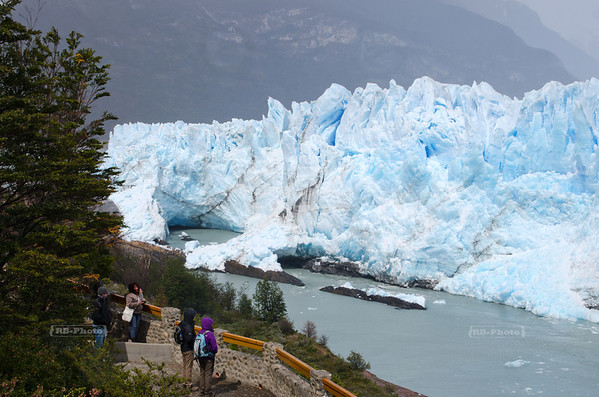 Visitors platform at the northern flank of the Perito Moreno Glacier, Glaciares National Park, Patagonia, Argentina