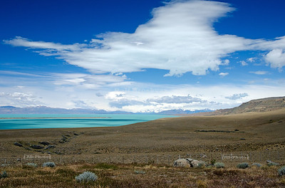 The north-east end of Lago Argentino, Patagonia, Argentina. And yes - those colors are real