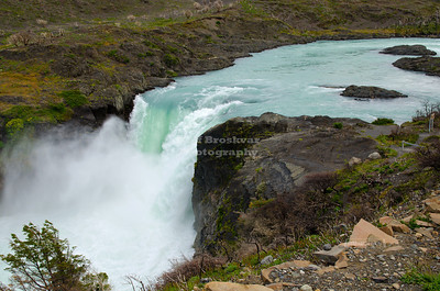 Salto Grande - the great waterfall in Torres Del Paine National Park, Patagonia, Chile