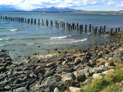 The abandoned old pier in Puerto Natales, Patagonia, Chile. Amazingly, this photo was taken with an old cell phone.