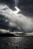 Dramatic sky over Last Hope Sound (Seno Última Esperanza) near Puerto Natales in southern Chile