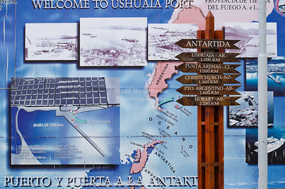 Distance Pole in Ushuaia, Argentina