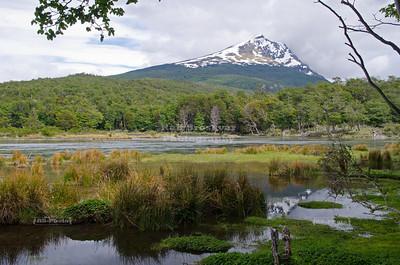 Cerro Condor (condor hill) and Lago Roca in Tierra Del Fuego National Park near Ushuaia, Patagonia, Argentina