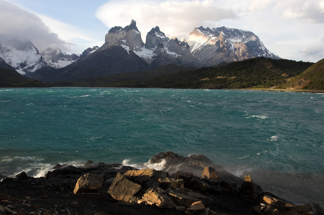 Cuernos del Paine from Hosteria Pehoe