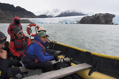 Zodiak boat ride back to the camp