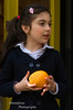 Girl with orange in Tortel Chile
