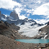 Glacial lake at the base of Cerro Fitz Roy