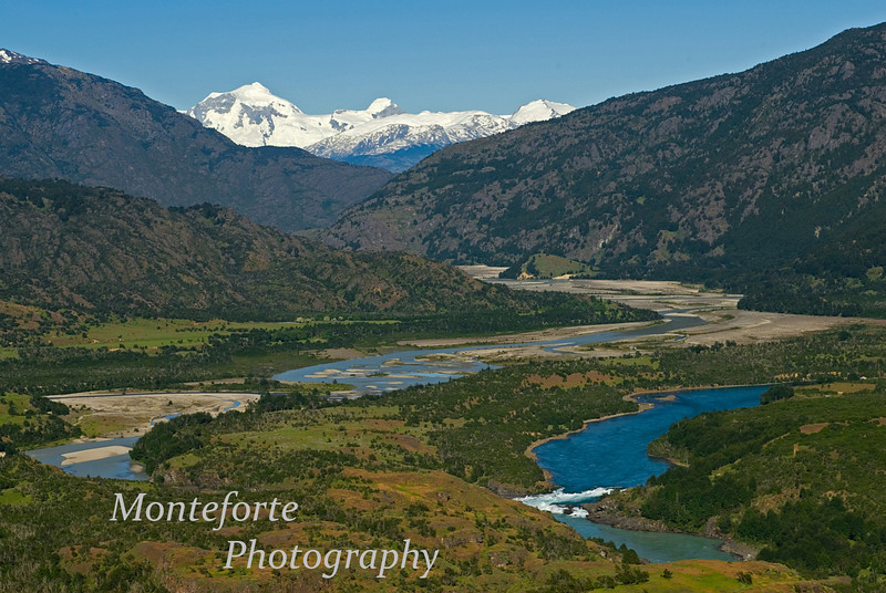 La Confluencia, Rio Nef and Rio Baker in forground Patagonia Chile
