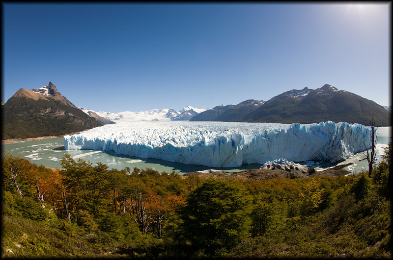The beautiful Perito Moreno glacier outside of El Calafate, Argentina