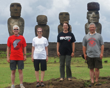 Blazer Moai on Easter Island