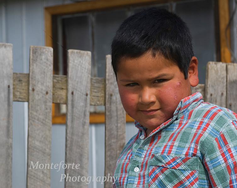 Boy in Cochrane, Chile