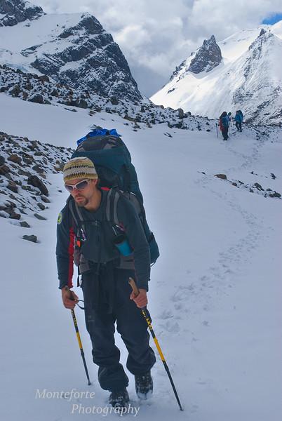 Tobiah at the summit of Cerro Castillo