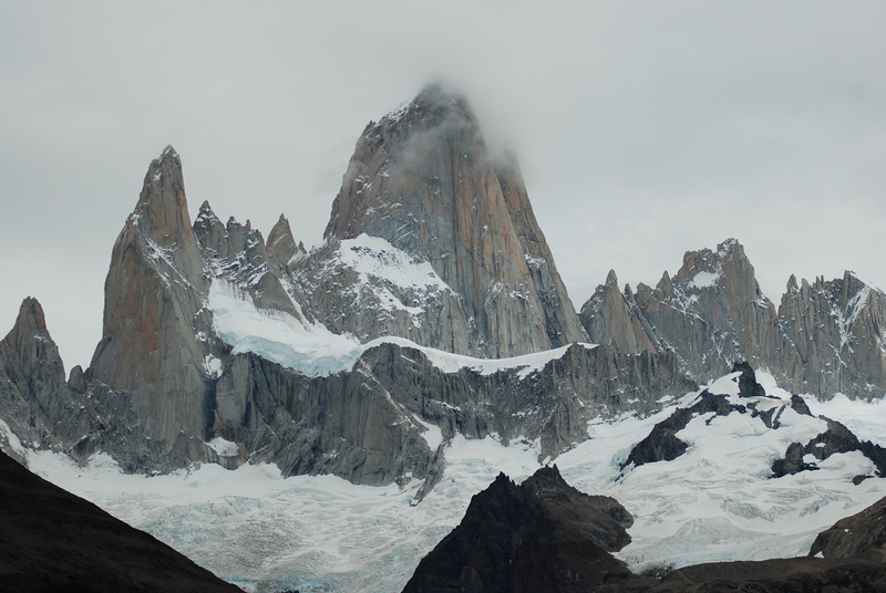 Cerro Fitz Roy... on the morning of our hike.