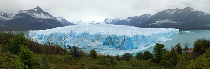 Perito Moreno from Above (3 Photo Panorama )