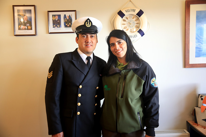Chilean Navy Officer and his wife welcome us to their home on Cape Horn.