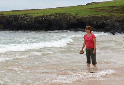 Amy Wades at Anakena Beach