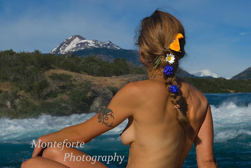Mary Ann at La Confluencia, Patagonia Chile