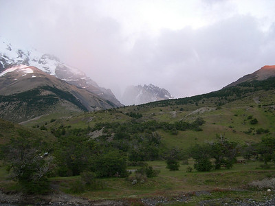 The Torres are kind of visible up the valley to the left