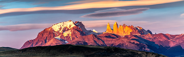 Sunrise on the Towers, Torres del Paine