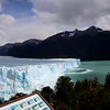 Watch the calving of the glacier as it sends a wave across  the water.