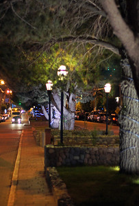 El Calafate Street at Night