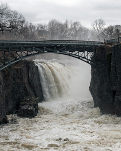 Passaic River Great Falls Paterson NJ (day after Hurricane Irene)