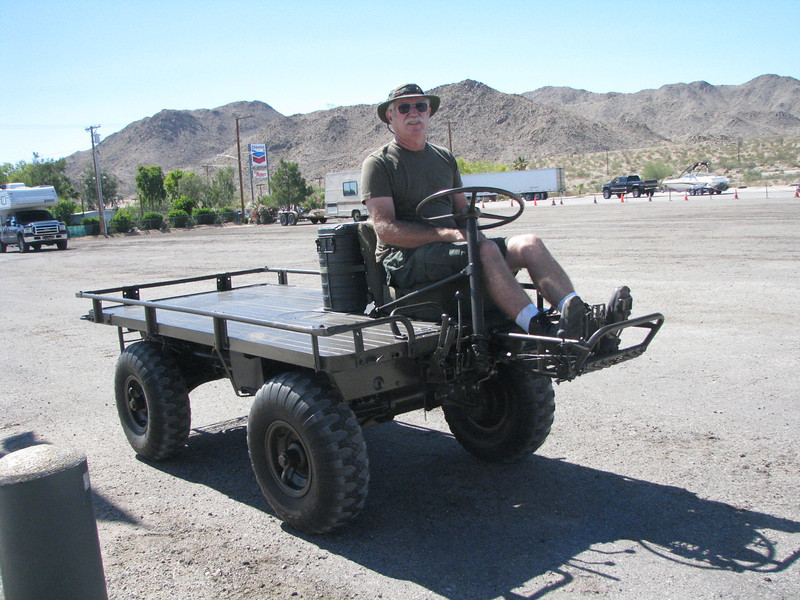 Motorize mule, there is a photo of this driver on a similar mule in Vietnam as a young soldier.