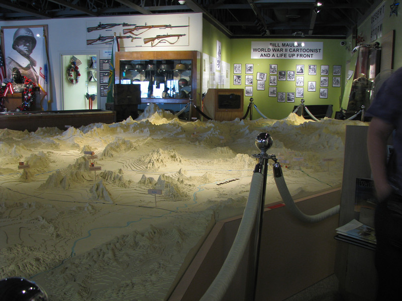 Another view of the  relief map.