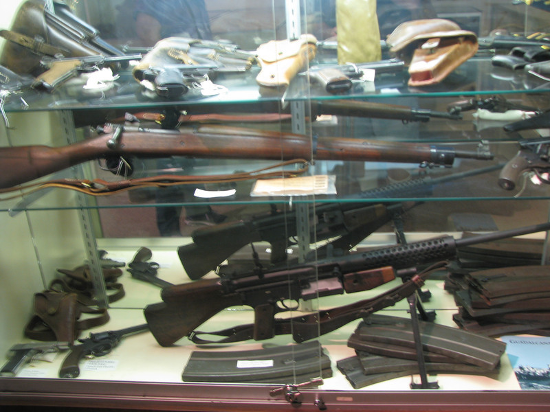 There are gun displays through out the museum.