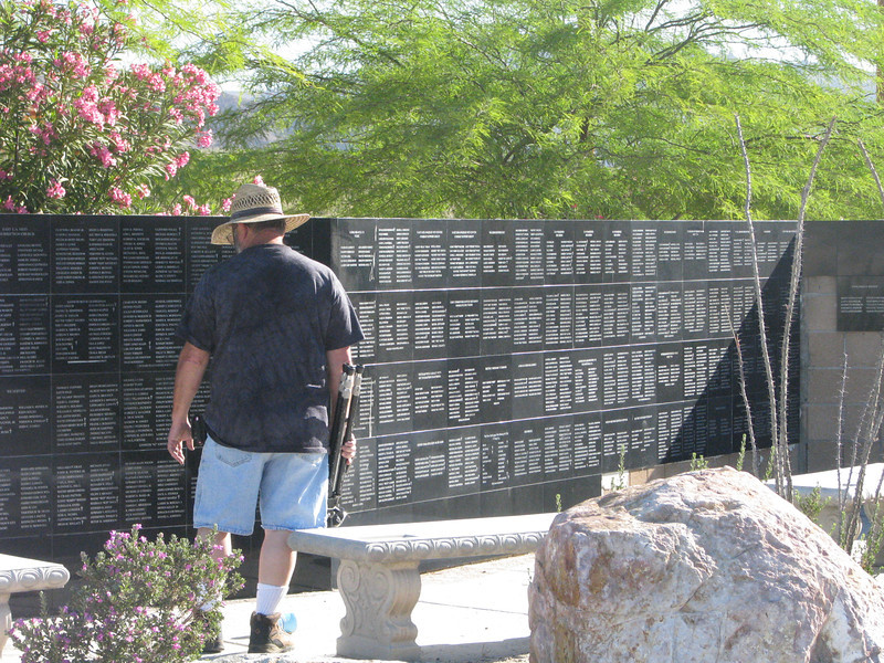 Patton has their own little wall of names.