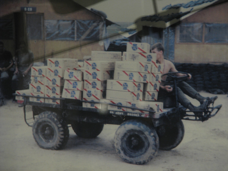 Here's that photo of the driver as a young solder in Vietnam.