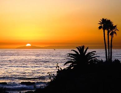 Sunset at Laguna Beach, CA.