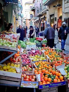 Fruit and vegetable market, Sorrento, Italy.