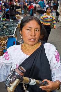 Otavalo marketplace, Otavalo, Ecuador.