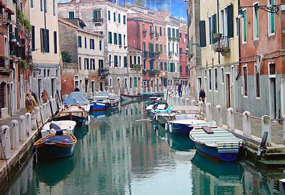 Canal, Venice, Italy.