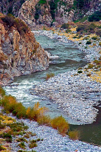 San Gabriel Canyon and river, near Azuza, CA.