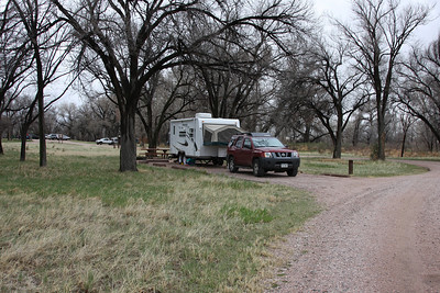 Our new trailer in site #1 at Crow Valley campground!