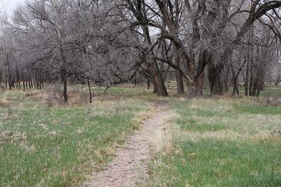 On the birding trail.
