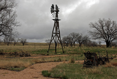 An old windmill near the campground.