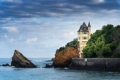 Villa Belza et son rocher- Biarritz