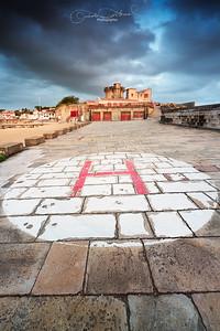 Ciel chargé sur le fort de Socoa