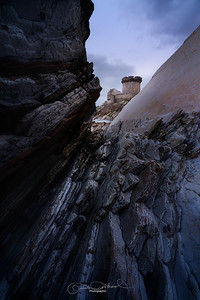 Fort de Socoa à travers le flysch